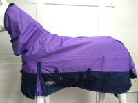 !!SALE!! AXIOM 600D WATERPROOF 300g LAVENDER/NAVY TURNOUT COMBO RUG