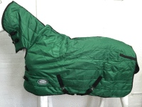1200D GREEN QUILTED 300G WINTER STABLE HORSE COMBO RUG