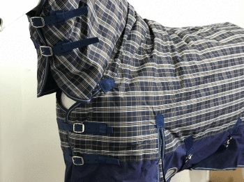 AXIOM 600D WATERPROOF 300G NAVY CHECK/NAVY TURNOUT COMBO