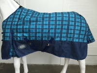 AXIOM 1800D BALLISTIC BLUE CHECK/NAVY 300G FILL SUPER TOUGH WINTER RUG