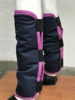 AXIOM NAVY/PINK BINDING FLOATING BOOTS - SET OF FOUR
